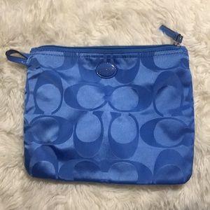 Blue Coach Toiletry Bag